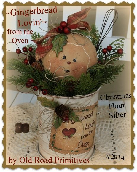 #ORPP ***NEW*** Gingerbread Lovin from the Oven Christmas Flour Sifter Pattern