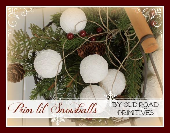 Prim lil Snowballs Pattern