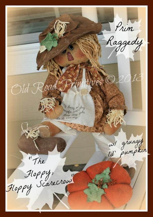 The Floppy, Floppy Scarecrow Prim Scarecrow Raggedy Pattern