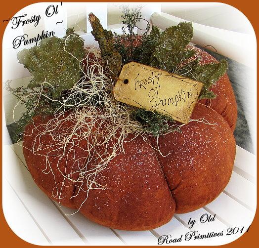 Frosty Ol' Pumpkin Pattern