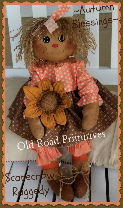 #ORPP ***NEW*** Autumn Blessings Scarecrow Raggedy Pattern