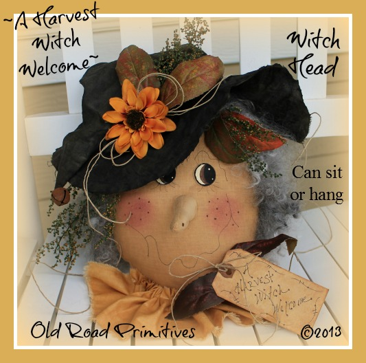 A Harvest Witch Welcome Witch Head Pattern