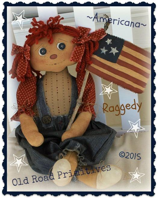***New*** Americana Raggedy Pattern