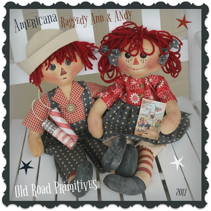 #ORPS371 Americana Raggedy Ann & Andy Pattern
