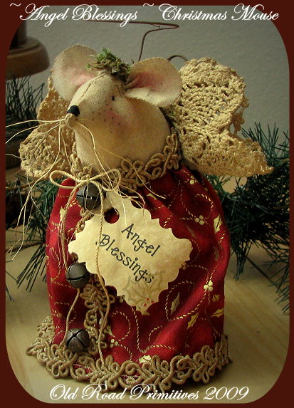 Angel Blessings Christmas Mouse Pattern