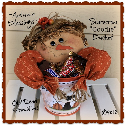 Autumn Blessings Scarecrow Goodie Bucket Pattern