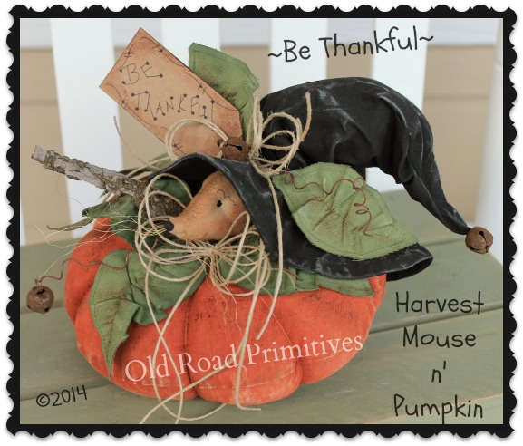 Be Thankful Harvest Mouse n' Pumpkin Pattern