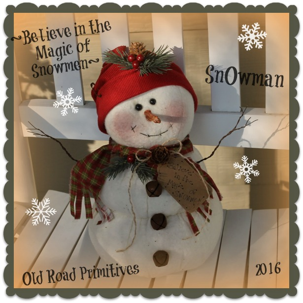 #ORPC305 Believe in the Magic of Snowmen Snowman Pattern