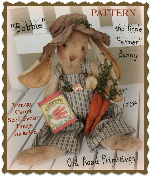#ORPS313 Bobbie the little Farmer Bunny Pattern