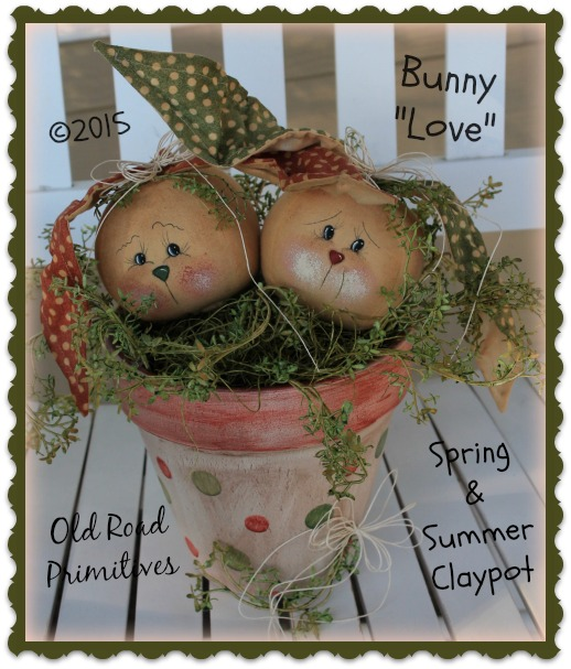 ***NEW*** Bunny Love Spring Summer Clay Pot Pattern
