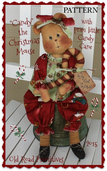 Candy the Christmas Mouse Pattern