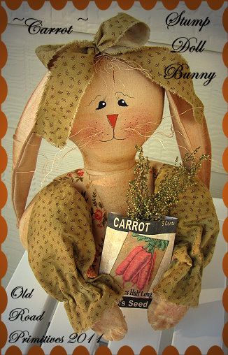 Carrot Stump Doll Bunny Pattern
