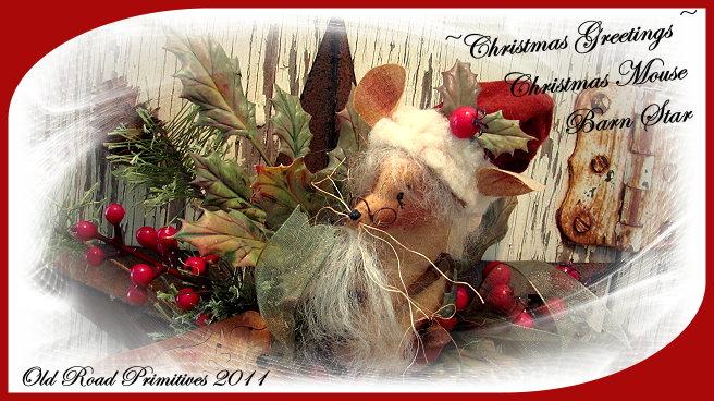 Christmas Mouse Closeup
