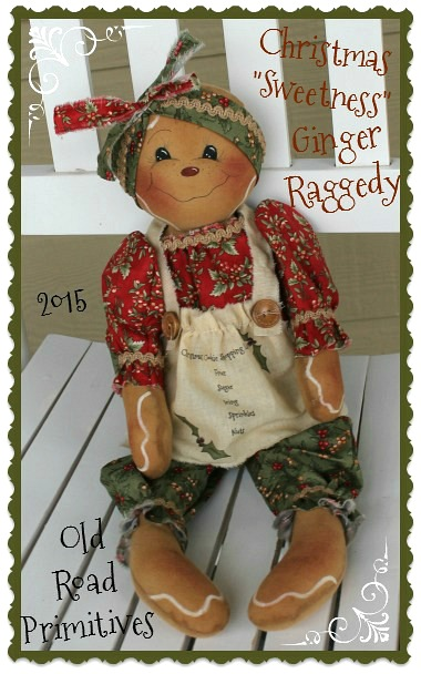 Christmas Sweetness Ginger Raggedy Pattern