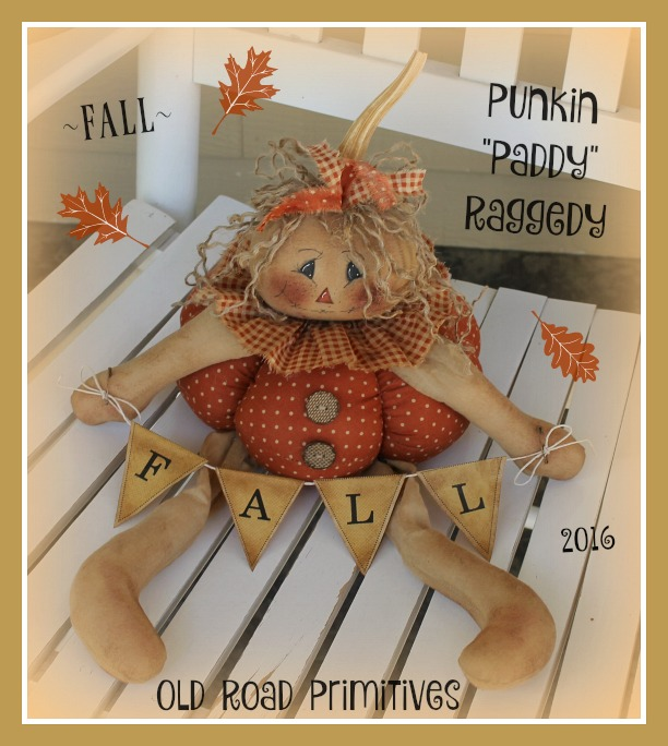 #ORPP ***NEW*** FALL Punkin Paddy Raggedy Pattern