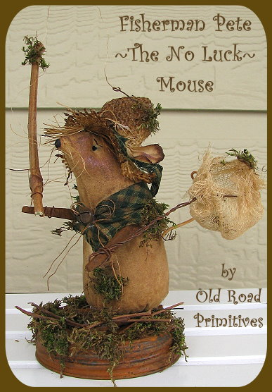 Fisherman Pete The No Luck Mouse Pattern