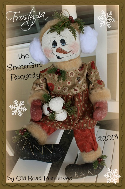 Frosty-ia the SnowGirl Raggedy Pattern
