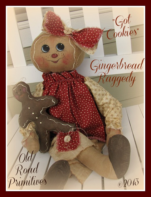Got Cookies Gingerbread Raggedy Pattern