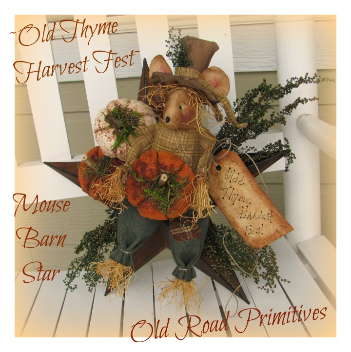 Olde Thyme Harvest Fest Mouse Barn Star Pattern