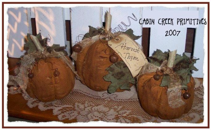 Harvest Thyme Pumpkins Pattern