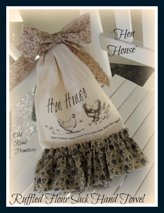 Hen House Ruffled Flour Sack Towel Pattern