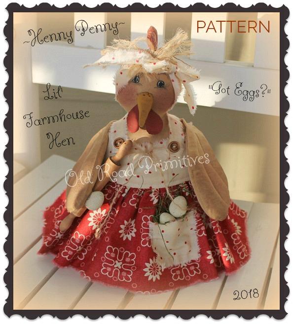 #ORPS372 Henny Penny Lil Farmhouse Hen Pattern