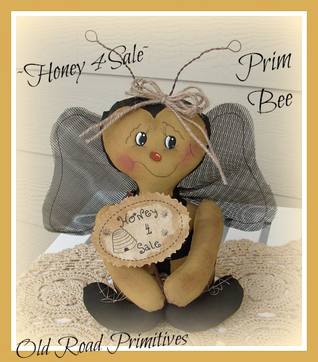 Honey 4 Sale Prim Bee Pattern