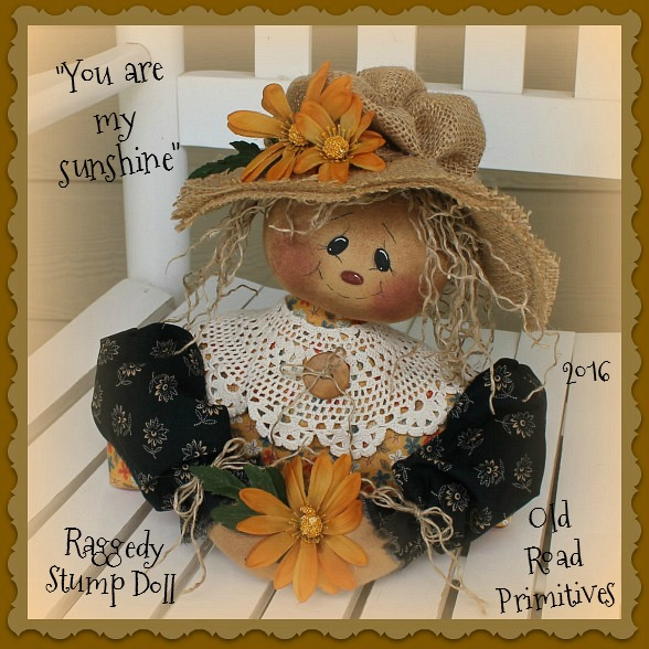 #ORPP ***NEW*** You are My Sunshine Raggedy Stump Doll Pattern