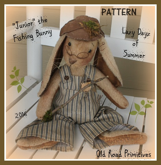 #ORPS317 Junior the Fishing Bunny Pattern
