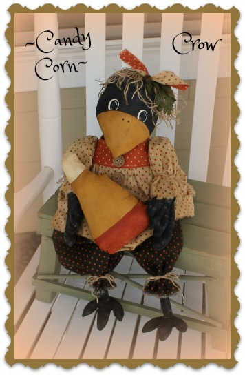 Candy Corn Crow Pattern