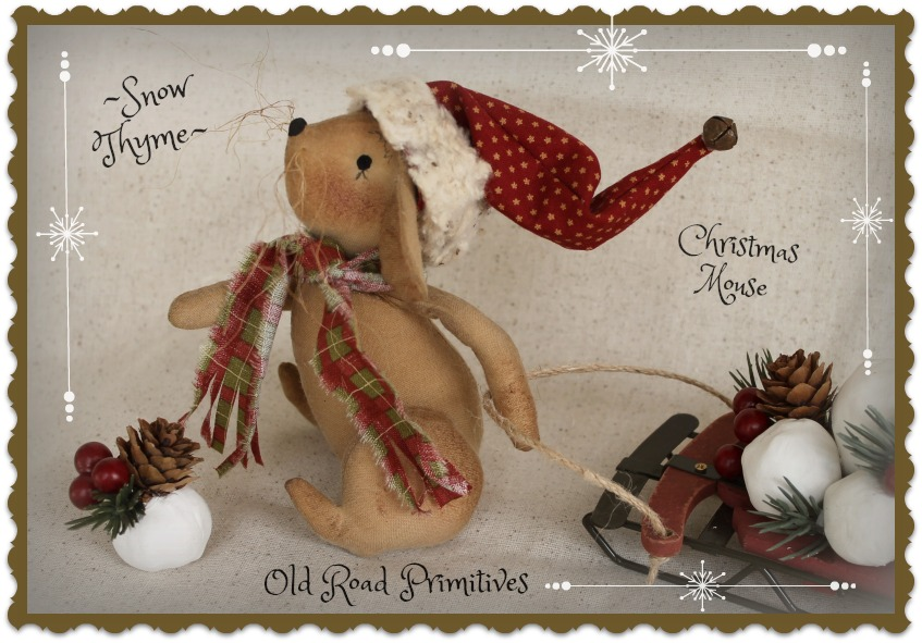 Snow Thyme Christmas Mouse Pattern