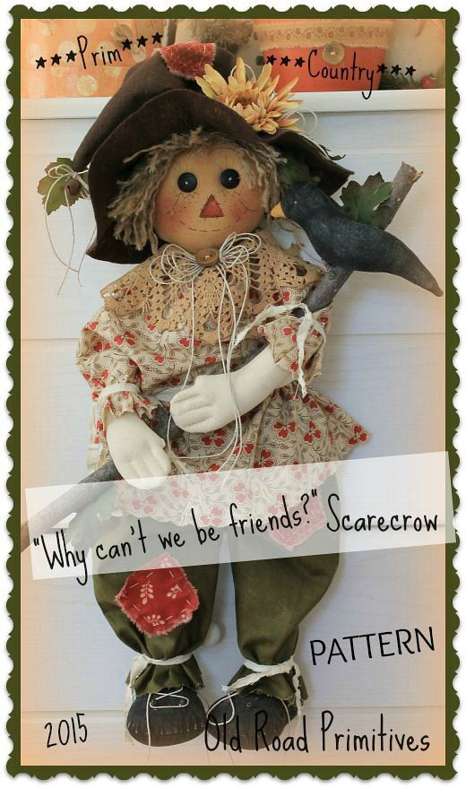 Why can't we be friends Country Scarecrow Pattern