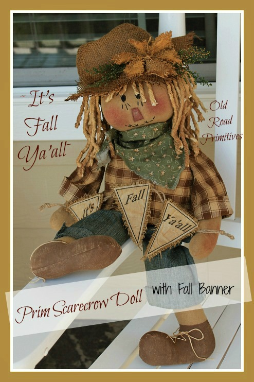 #ORPP ***NEW*** It's Fall Ya'all Prim Scarecrow Doll Pattern