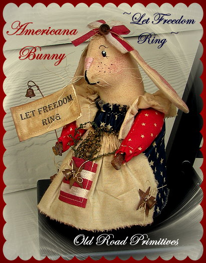 Let Freedom Ring Americana Bunny Pattern