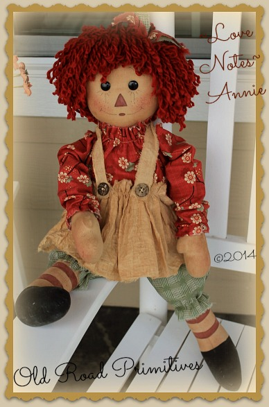 Love Notes Annie Raggedy Pattern