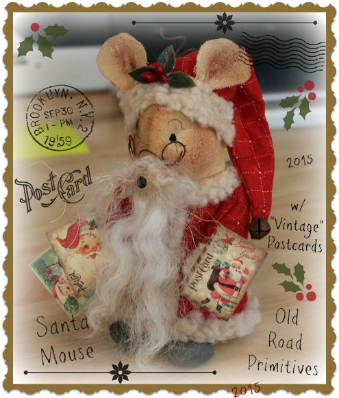 #ORPP ***NEW*** Mail Day at the North Pole Santa Mouse Pattern