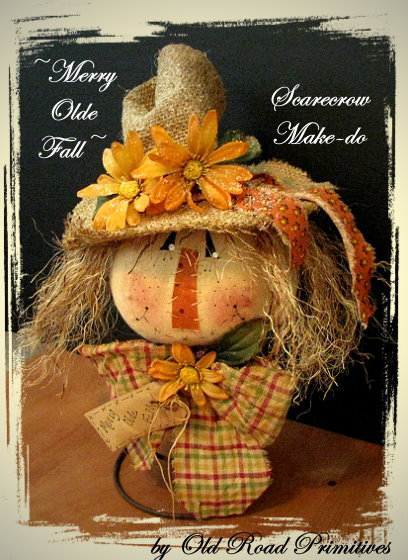 Merry Olde Fall Scarecrow Make-do Pattern