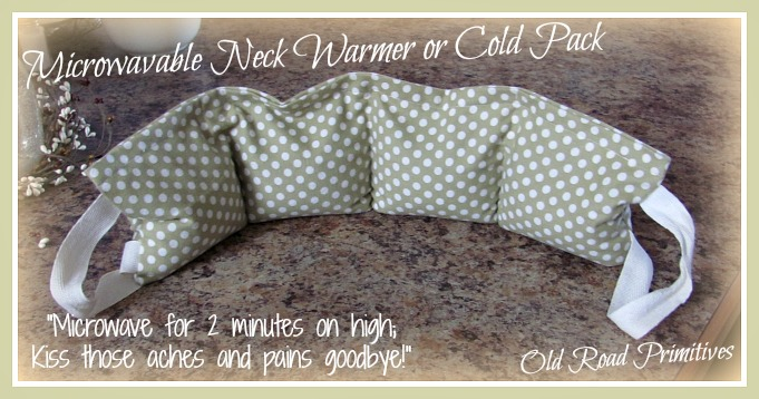 Microwavable Neck Warmer or Cold Pack Pattern