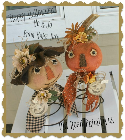 #ORPF187 Mo & Jo Prim Scarecrow & Pumpkin Make-Do Pattern