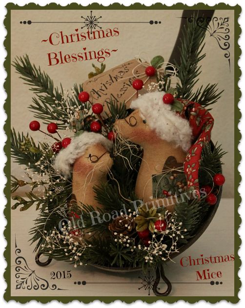 ***NEW*** Christmas Blessings Christmas Mice in Sifter Pattern