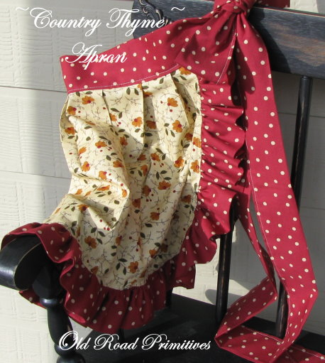 Country Thyme Apron Pattern