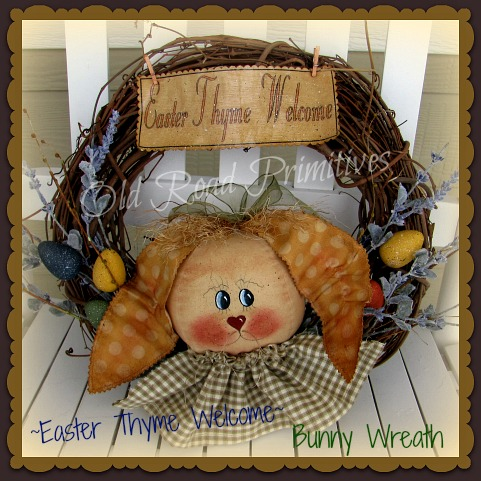 Easter Thyme Welcome Bunny Wreath Pattern