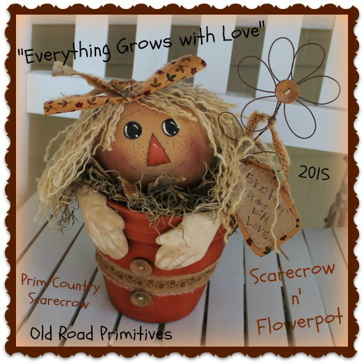Everything Grows with Love Scarecrow n Flowerpot Pattern