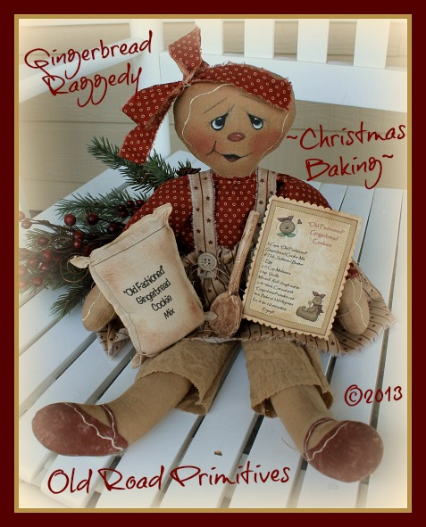Christmas Baking Gingerbread Raggedy Pattern