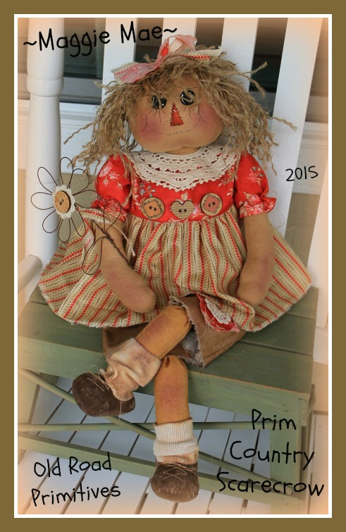 ***NEW*** Maggie Mae Prim Country Scarecrow Raggedy Pattern