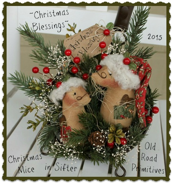 Christmas Blessings Christmas Mice in Sifter Pattern