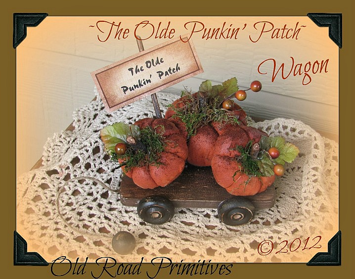 The Olde Punkin Patch Wagon Pattern