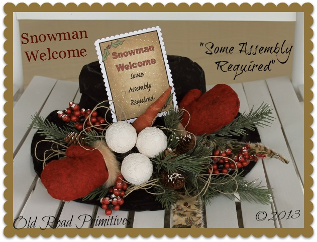 ***NEW*** Snowman Welcome Snowman Hat Pattern-Snowman Hat Pattern,Christmas Pattern,ePattern,Crafts,Snowman,Patterns,