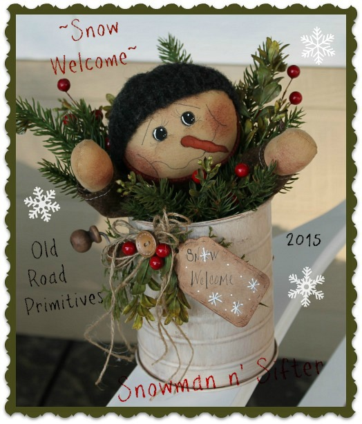 Snow Welcome Snowman n' Sifter Pattern