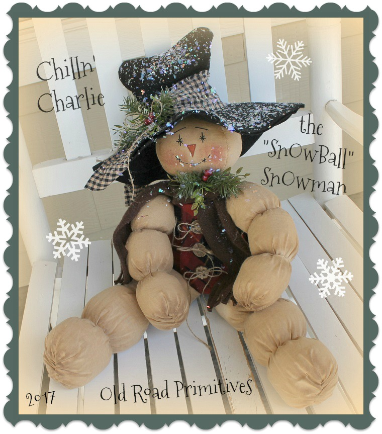 #ORPC312 Chilln Charlie the Snowball Snowman Pattern